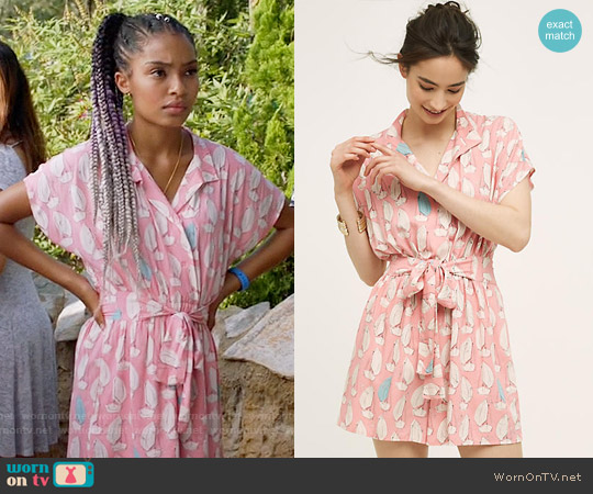 Anthropologie Tourista Romper worn by Yara Shahidi on Blackish