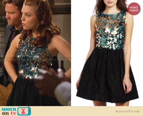 Plenty by Tracy Reese Sequin Bodice Frock worn by Kaitlyn Black on Hart of Dixie