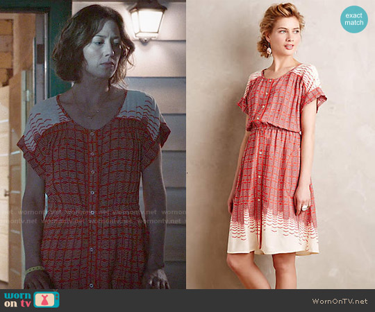 Anthropologie Veronia Shirtdress worn by Carrie Coon on The Leftovers
