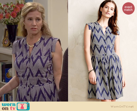 Anthropologie West Street Shirtdress in Blue Motif worn by Nancy Travis on Last Man Standing