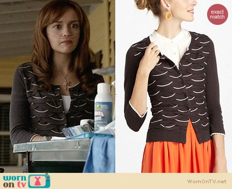 Anthropologie Winter Waves Cardigan worn by Olivia Cooke on Bates Motel