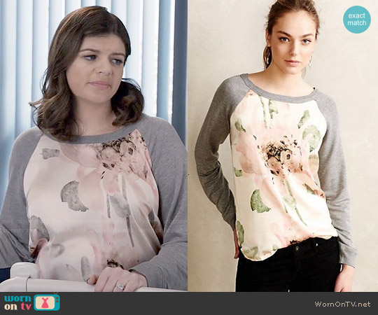 Anthropologie Winterbloom Pullover worn by Casey Wilson on Marry Me