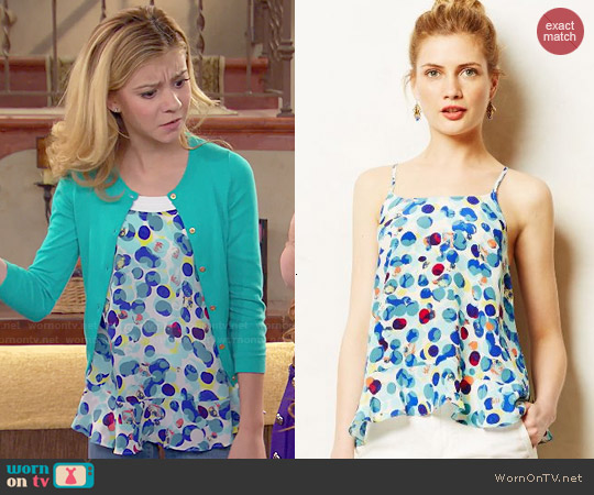Anthropologie Zabella Tank worn by G. Hannelius on Dog with a Blog