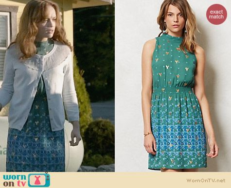Anthropologie Empyrean Dress worn by Olivia Cooke on Bates Motel