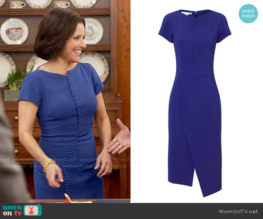 Antonio Berardi Crepe Button Dress worn by Julia Louis-Dreyfus on Veep