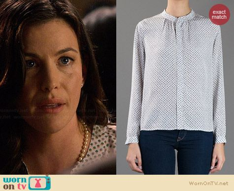 APC Apple Print Blouse worn by Liv Tyler on The Leftovers