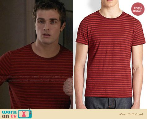 APC Striped Tee worn by Beau Mirchoff on Awkward