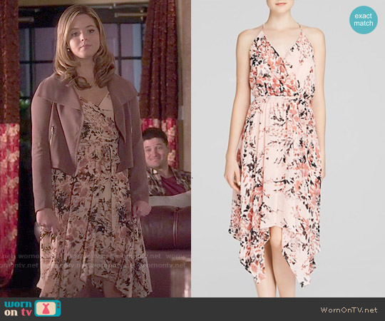 Aqua Floral Goddess Dress worn by Sasha Pieterse on PLL