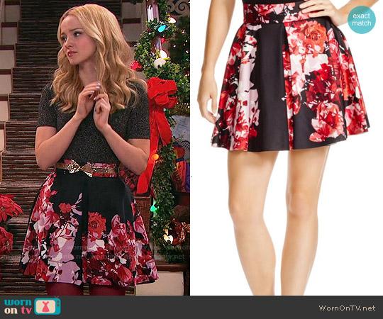 Aqua Floral-Print Neoprene Skirt worn by Liv Rooney on Liv & Maddie