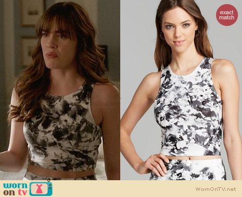 Aqua Geranium Sleeveless Jersey Top worn by Christa Allen on Revenge