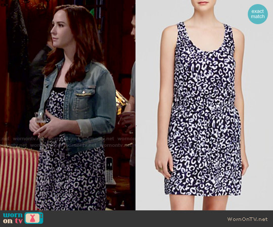 Aqua 'Lola' Animal Racerback Dress worn by Camryn Grimes on The Young & the Restless