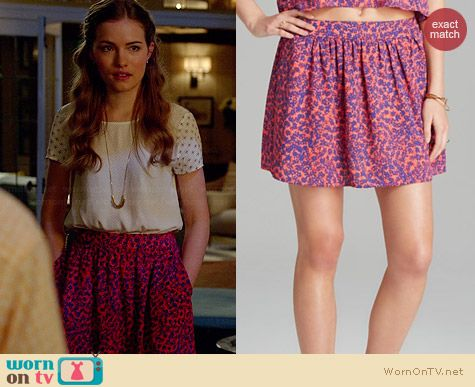 Aqua Mary Anne Pocket Skirt worn by Willa Fitzgerald on Royal Pains