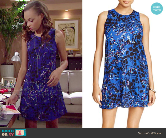 Aqua Night Garden Floral Print Dress worn by Reign Edwards on The Bold & the Beautiful