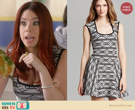 Aqua Tribal Print Dress worn by Jillian Rose Reed on Awkward