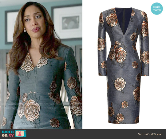 Aquilano Rimondi Floral Embroidered Dress worn by Gina Torres on Suits