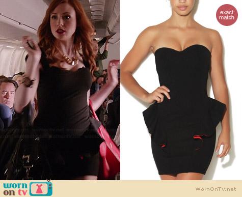 Wornontv Eliza S Black And Red Peplum Dress And Studded