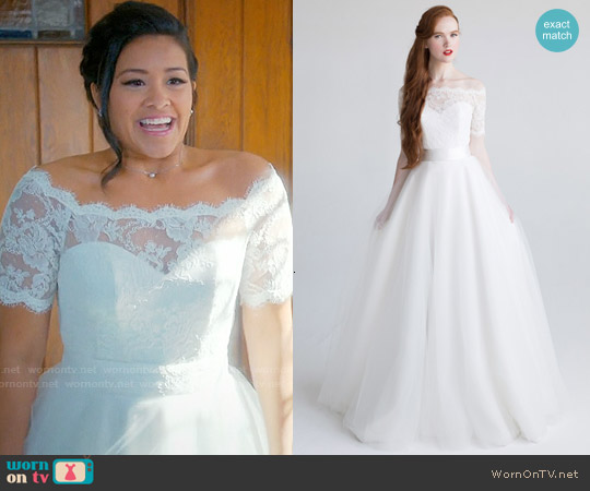 Aria Jennifer Wedding Gown worn by Gina Rodriguez on Jane the Virgin
