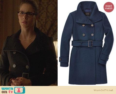 Babaton Bromley Coat worn by Emily Bett Rickards on Arrow