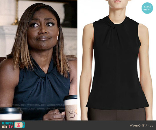 Armani Collezioni Twist Silk Top worn by Patina Miller on Madam Secretary