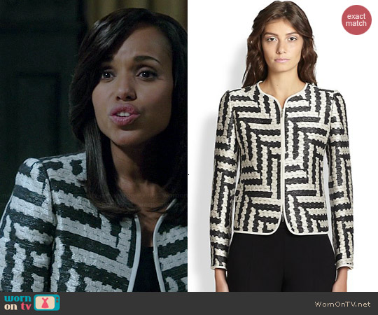 Armani Collezioni Ikat-Weave Jacket worn by Kerry Washington on Scandal