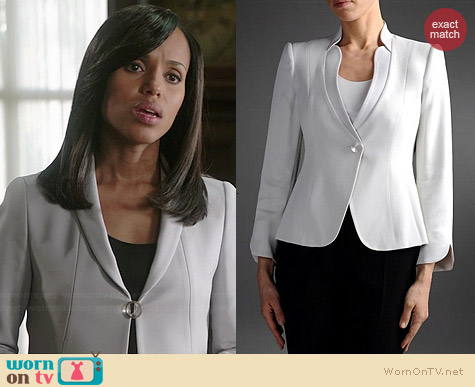 Armani Collezioni Single Button Crepe Jacket worn by Kerry Washington on Scandal