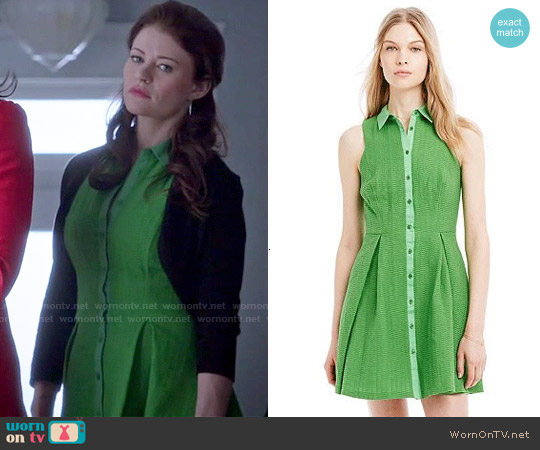 Armani Exchange Textured Fit & Flare Shirtdress worn by Emilie de Ravin on OUAT