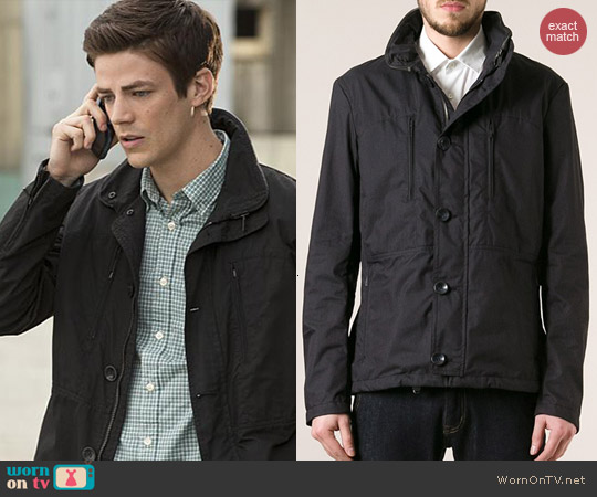 Armani Jeans Button Up Jacket worn by Grant Gustin on The Flash