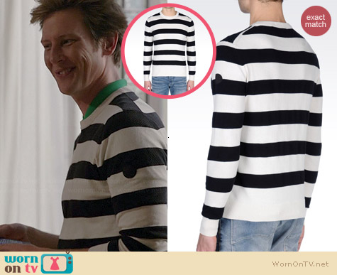 Armani Jeans Striped Sweater worn by Gabrielle Mann on Revenge