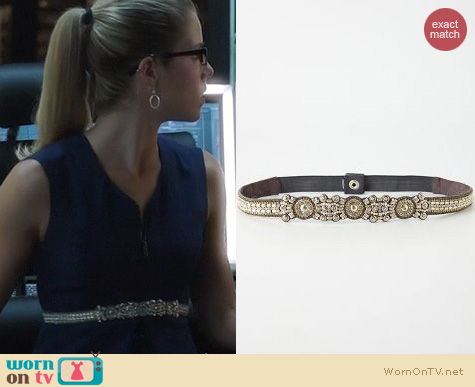 Fashion of Arrow: Anthropologie Tic Glitz Belt worn by Felicity Smoak