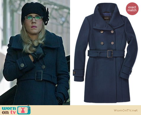 Arrow Fashion: Babaton Bromley Coat worn by Felicity Smoak