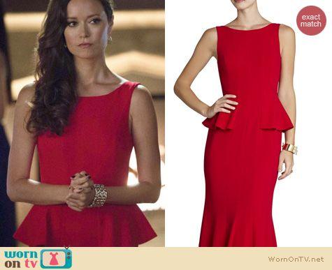 Arrow Fashion: BCBGMAXAZRIA Francesca gown worn by Summer Glau