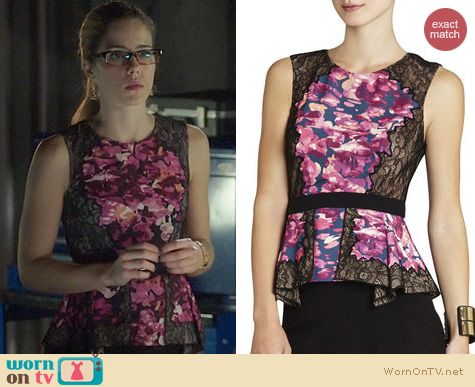 Fashion of Arrow: Bcbgmaxazria Kaylyn Top worn by Emily Bett Rickards