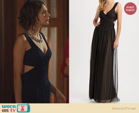 Arrow Fashion: Bcbgmaxazria Mara Tulle Gown worn by Willa Holland