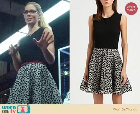 Arrow Fashion: Diane von Furstenberg Jeannie Leopard Dress worn by Emily Bett Rickards