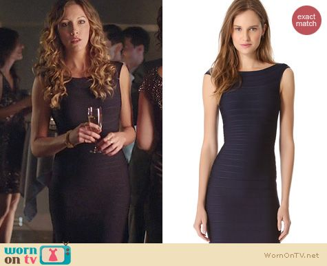 Arrow Fashion: Herve Leger Ardell Dress worn by Katie Cassidy