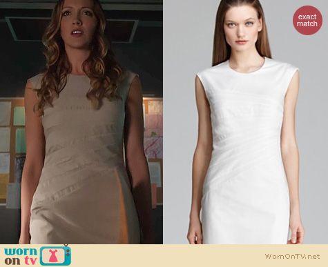 Arrow Fashion: Hugo Boss Dicaila dress worn by Katie Cassidy