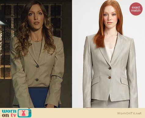 Arrow Fashion: Hugo Boss Melange Jacket worn by Katie Cassidy