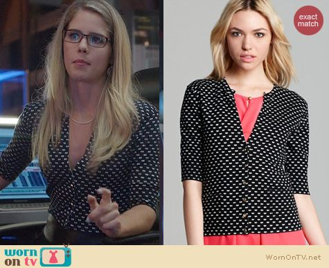 Arrow Fashion: Marc by Marc Jacobs Vivie Cardigan worn by Emily Bett Rickards