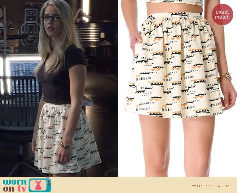 Arrow Fashion: Patterson J Kincaid Ralin skirt worn by Emily Bett Rickards