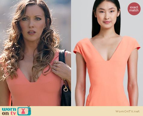Arrow Fashion: Rachel Roy Nectar Cap Sleeve Dress worn by Katie Cassidy