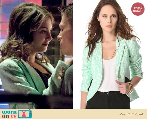 Arrow Fashion: Smythe Lace Blazer worn by Willa Holland