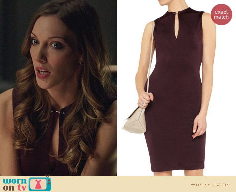 Fashion of Arrow: T by Alexander Wang Slit Front Dress worn by Katie Cassidy