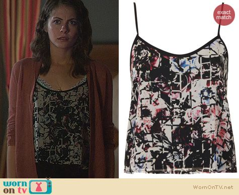Fashion of Arrow: Topshop Floral Grid Print Cami worn by Willa Holland