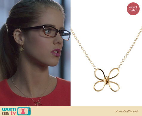 Arrow Jewelry: Peggy Li Buttefly Twist Necklace worn by Emily Bett Rickards