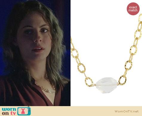 Arrow Jewelry: Peggy Li Milk Quartz Stone Necklace worn by Willa Holland