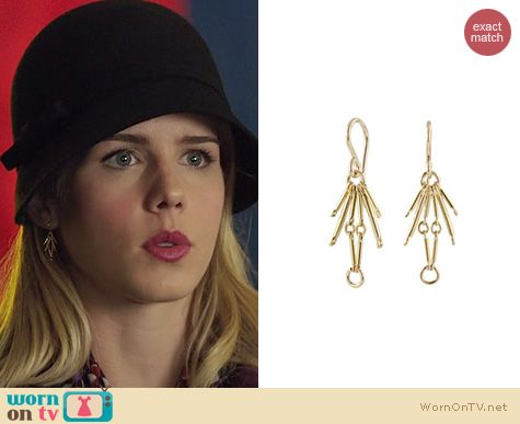 Arrow Jewelry: Peggy Li Spark Earrings worn by Emily Bett Rickards