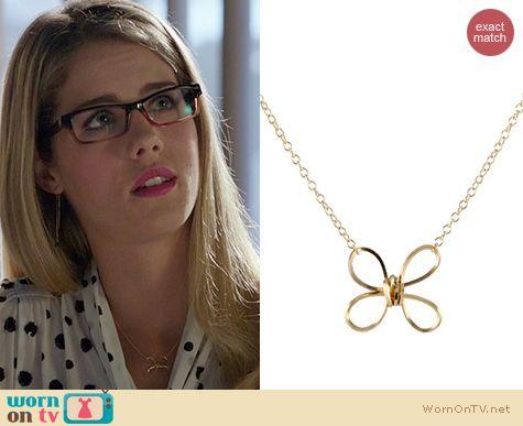 Arrow Jewelry: Peggy Li Butterfly Twist Necklace worn by Emily Bett Rickards