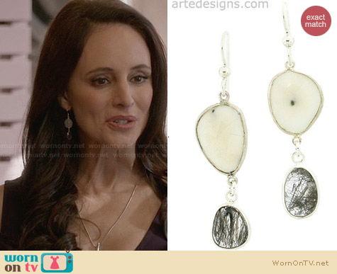 Arte Designs Celestial Gemstone Earrings worn by Madeleine Stowe on Revenge