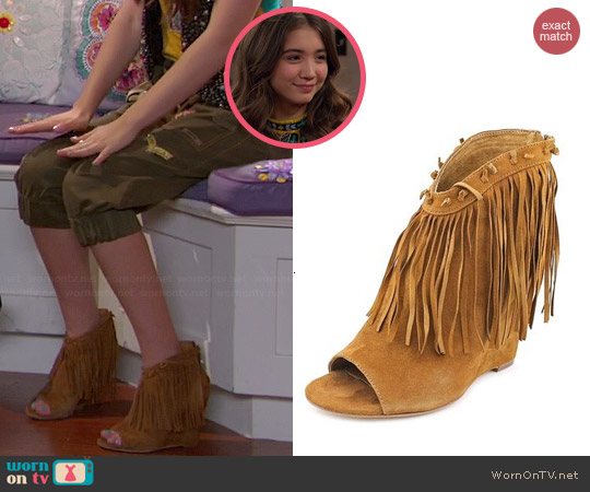 ASH Janis Fringed Suede Boots worn by Rowan Blanchard on Girl Meets World