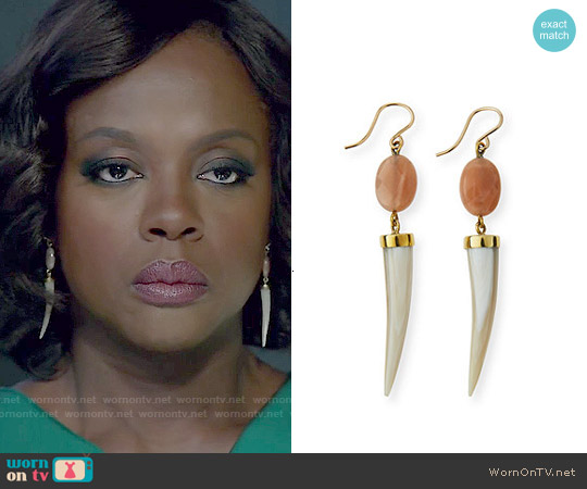 Ashley Pittman Penzi Spike Drop Earrings worn by Annalise Keating on HTGAWM